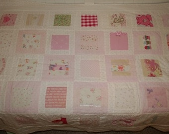 Custom Baby Clothes Memory Quilt