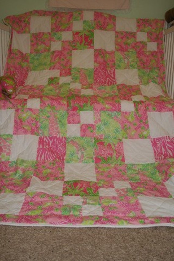 Lilly Pulitzer Custom Twin Size Quilt