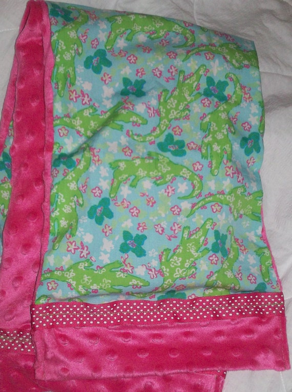 Ladies Scarf Made with Lilly Pulitzer Alberta Gator Fabric