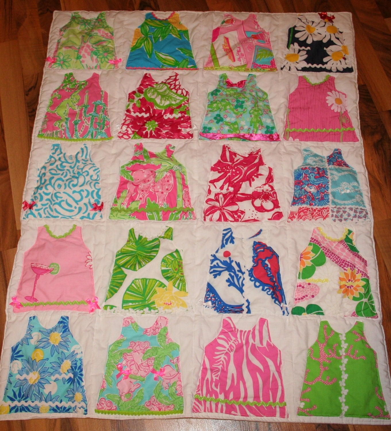 Shift Dress Baby Blanket Made With Lilly Pulitzer Fabric