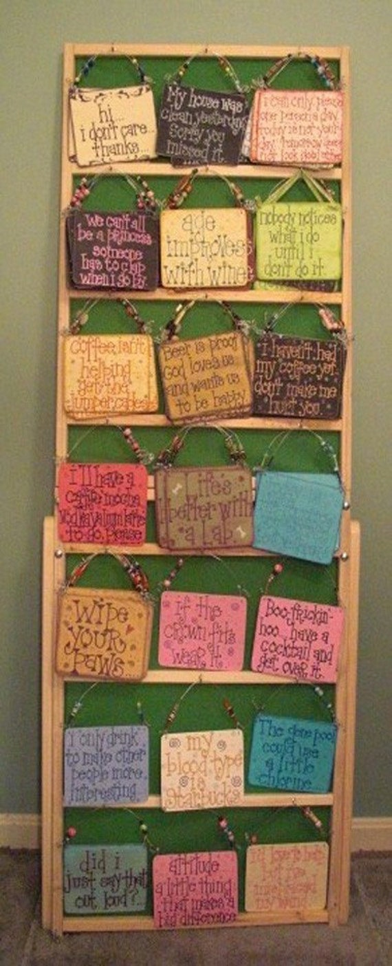 Craft show display ladder for signs from wudls on etsy studio for Free craft show listings