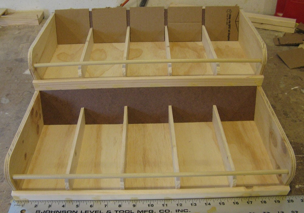 Craft show display double stacked bins for Craft fairs in ct december
