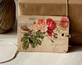 Set of Six Gift Tags - Vintage Roses