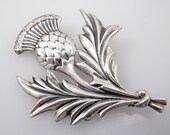 SALE --- Antique Danecraft Sterling Thistle Brooch