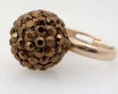 SALE ---- Vintage Brown Sugar Size 7.5 Adjustable Costume Ring