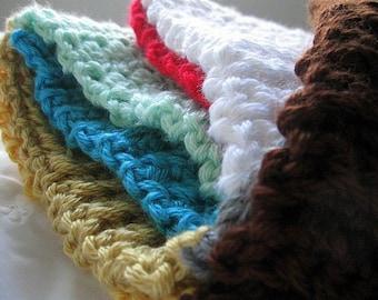 Scrap Art Scarf, Multicolor Crochet Striped Fashion Ribbed Blocks