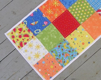 Quilted Table Runner Summer Fun --  Perfect For July 4th