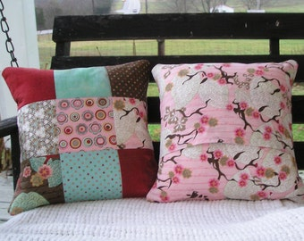 Pillow Cover Pair 14x14 - Quilted - MODA Blush by BasicGrey