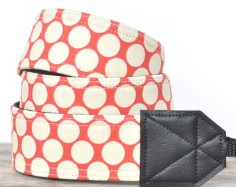 MADE TO ORDER - Camera Strap - Amy Butler Full Moon Red