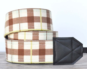 MADE TO ORDER - Camera Strap - Earthy Plaid