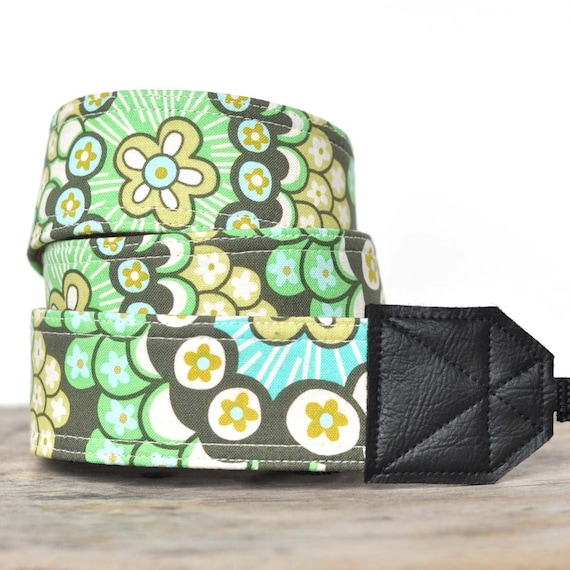 MADE TO ORDER - Camera Strap - Dandelion Field Forest