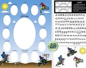 Babys First Year Photo Mat - First Year Collage - Baby Photo Mats - DIRTBIKE and QUAD PHOTOMAT