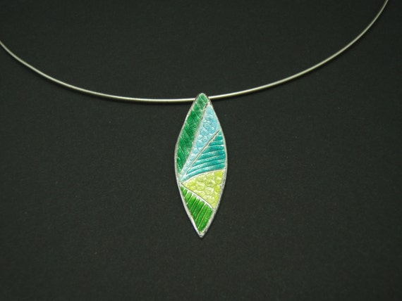 Enameled Abstract Necklace