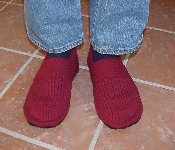Options Slippers for Men - Sizes SM-XL, Knit it all, Knit w/crochet, or use a felted sweater sole....