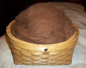 Soft dehaired Llama fiber- Rich Brown one ounce