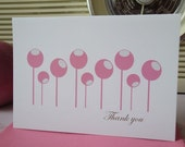 Modern Thank You cards - set of 6