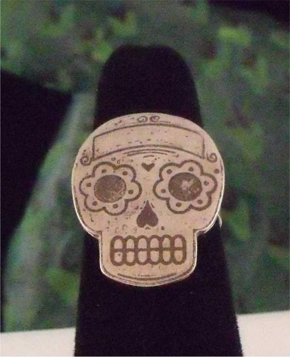 Traditional Sugar Skull Ring