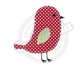 Red Cute Bird Clipart