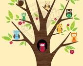 The Owl Tree 8X10 print