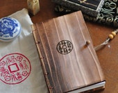 Letterpress Handmade Wooden Book : Authentic Fortune Chinese Characters