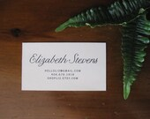 Old Fashioned Ink Calling Cards