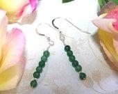 HARMONY Green Aventurine Sterling Silver Earrings