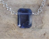 Bella Necklace in Iolite emerald-cut
