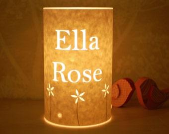 Personalised name lamp