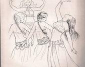 Inalame's Halter Bra and Tie Girdle(Belt) Pattern  (Vintage)