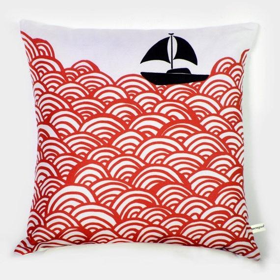Bigger Boat  throw pillow 45x45cm