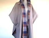 Vintage Hooded Rain Cape Cloak Parka Unisex One size