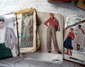 DOLLAR SALE Grab Bag of Misses Vintage Sewing Patterns - Size 14