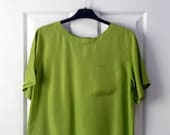 RESERVED for Lea - Boxy Bright Vintage Blouse