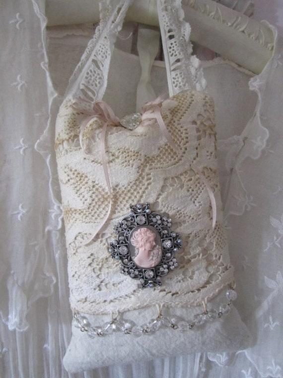 Shabby Chic French Organic Lavender Door Pillow - Sachet