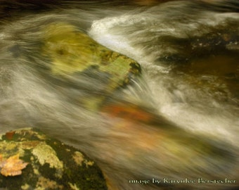 Answering the Call, Inspirational Art, Fine Art Photography, Matted Photography, Green and Yellow, Mountain Lake Art, Rustic Art