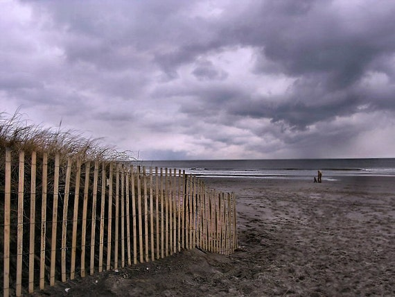 Safe in a storm--Shore Seascape Matted Fine Art Inspirational Photography Office Home Decor
