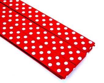 Pattern Magnet - Chart Keeper Magnetic Bookmark - Knitting Crochet Supplies Tools - Set of 3 - Red Polka Dot