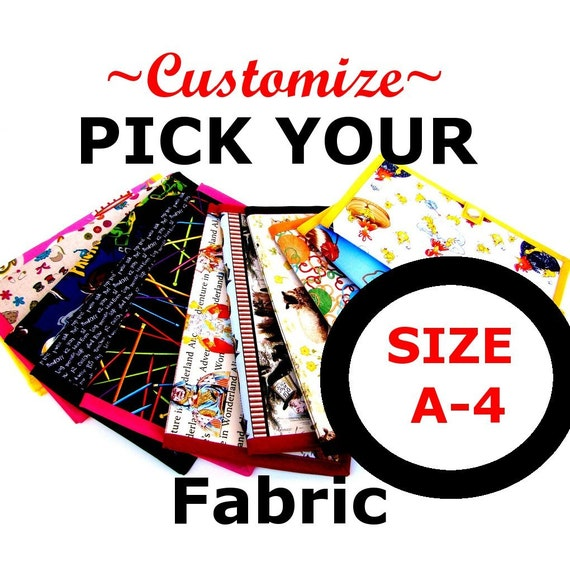 A4 Pattern Wallet Pattern Keeper Knitting Crochet Supplies- Customize - Pick Your Fabric