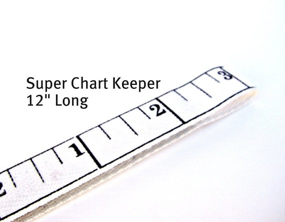 "NEW Extra Large Pattern Magnet - Landsape Chart Pattern Keeper Magnet Bookmark 12"" Long - Knitting Crochet Supplies - Twill Ruler"