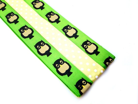 Pattern Magnet - Pattern Keeper Magnet Bookmark - Knitting Crochet Supplies - Set of 3 - Owls Green Yellow