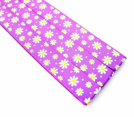Magnet Bookmark - Pattern Keeper - 3 - Purple Daisys