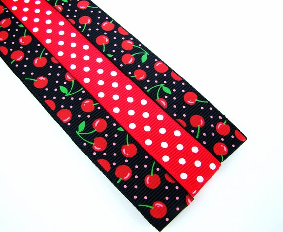 Pattern Magnet - Pattern Keeper Magnet Bookmark - Knitting Crochet Supplies - Set of 3 - Black Red Cherries
