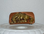 Belt Buckle RODEO HORSE in Copper and Brass, Bucking Bronco