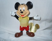 Mickey Mouse Poseable Toy Figure Walt Disney Distributing Co. Productions Plastic and Rubber