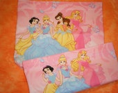 Reusable PLEATED Fabric Sandwich and Snack Bag Set - Disney Princesses - Eco Friendly Happisacs