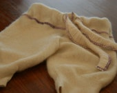 ON SALE ivory cashmere cuddly longies size 6-18months