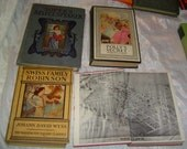 4 Very Old books selling Seperately the World of Willa Cather Swiss Family Robinsen Pollys Secret Sopers Select Speaker