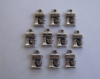 Mixer charms- ten charms- antique silver charms