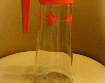 Slim Glass Orange Juice Pitcher