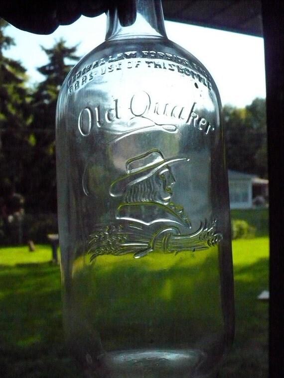 Old Quaker Post Prohibition Whiskey bottle